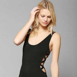 silence + noise Tops - Silence and Noise Laced bodysuit black